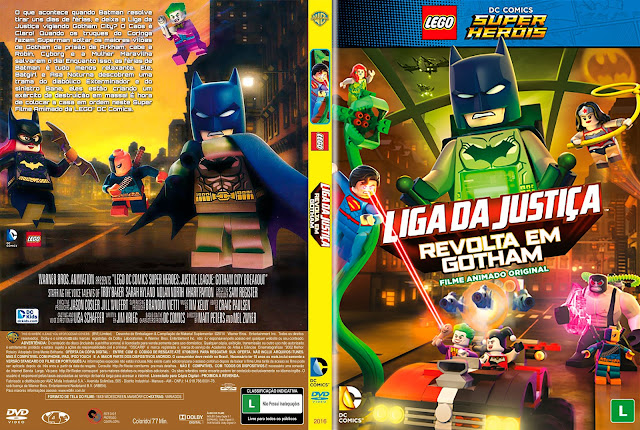 Capa DVD LEGO Liga Da Justiça Revolta Em Gotham