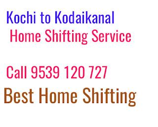 Kochi to Kodaikanal  House Shifting Service