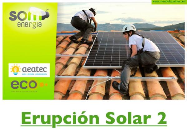 Som Energía impulsa una campaña Erupción Solar 2 para la compra colectiva de paneles solares