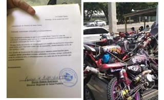Jóvenes que les fueron ocupadas motocicletas en Guayubín, niegan las usarían para carreras ilegales.