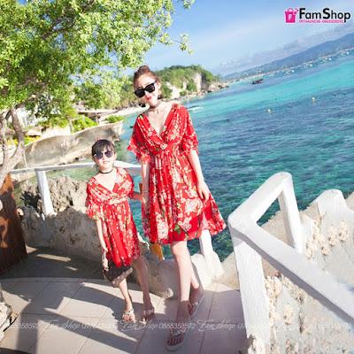 Váy maxi mẹ và bé gái M509
