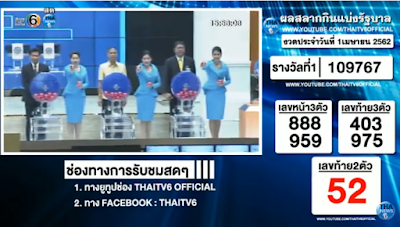 Thailand Lottery Result 01 April 2019 Live Streaming Online