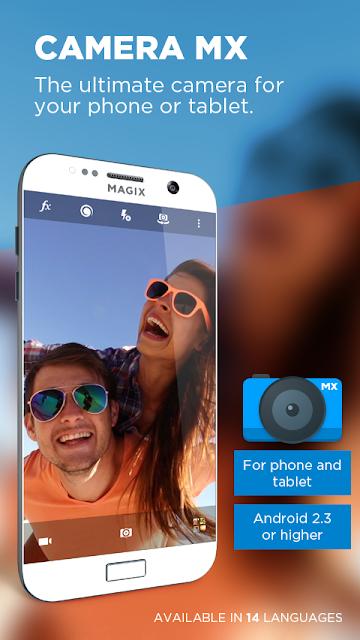 "aplikasi kamera android terbaik ""Camera MX"""