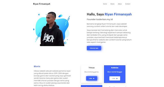Sibiru Template Landing Page Blogger