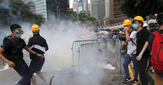 Hong Kong police fireplace tear gas, water as protest escalates