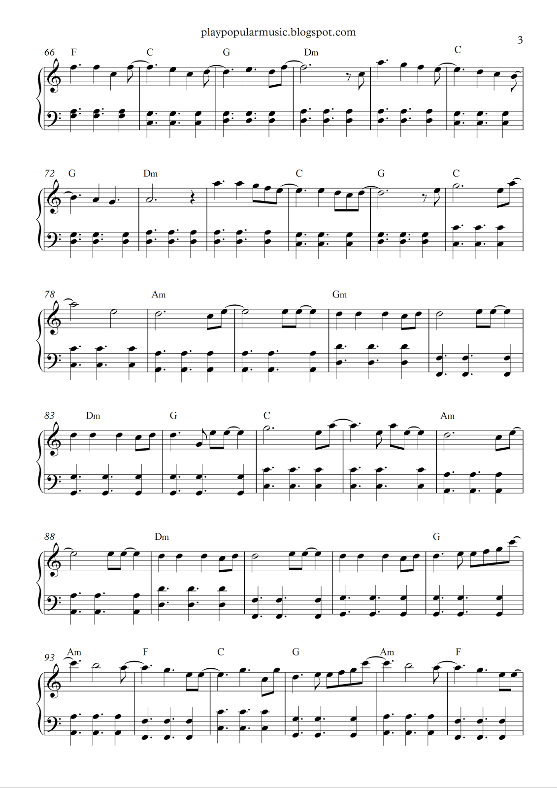 All Of Me Piano Sheet Music play popular music: all of me - john legend