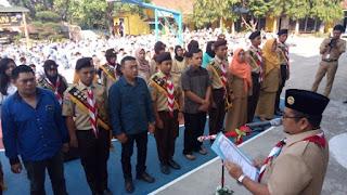 Wakil Walikota Jambi Kukuhkan 12 Siswa-siswi SMAN 2 Kota Jambi sebagai Pramuka Garuda