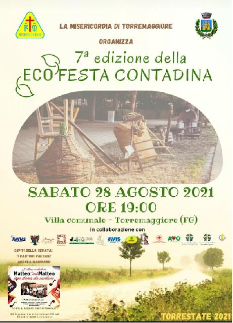 """Torremaggiore: 7ª edizione """"Ecofesta Contadina"""""""