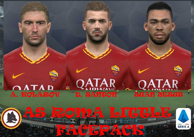 PES 2017 AS Roma Faces by Eddie Facemaker