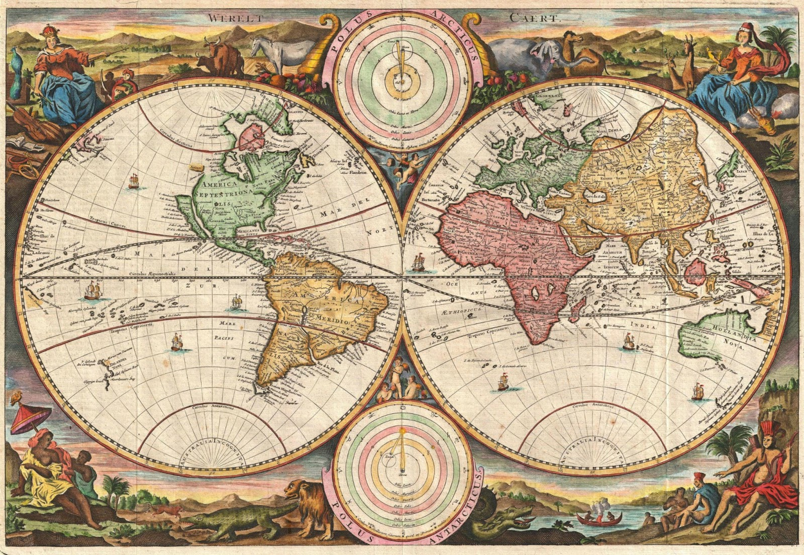 Ancient World Maps World Map 18th Century