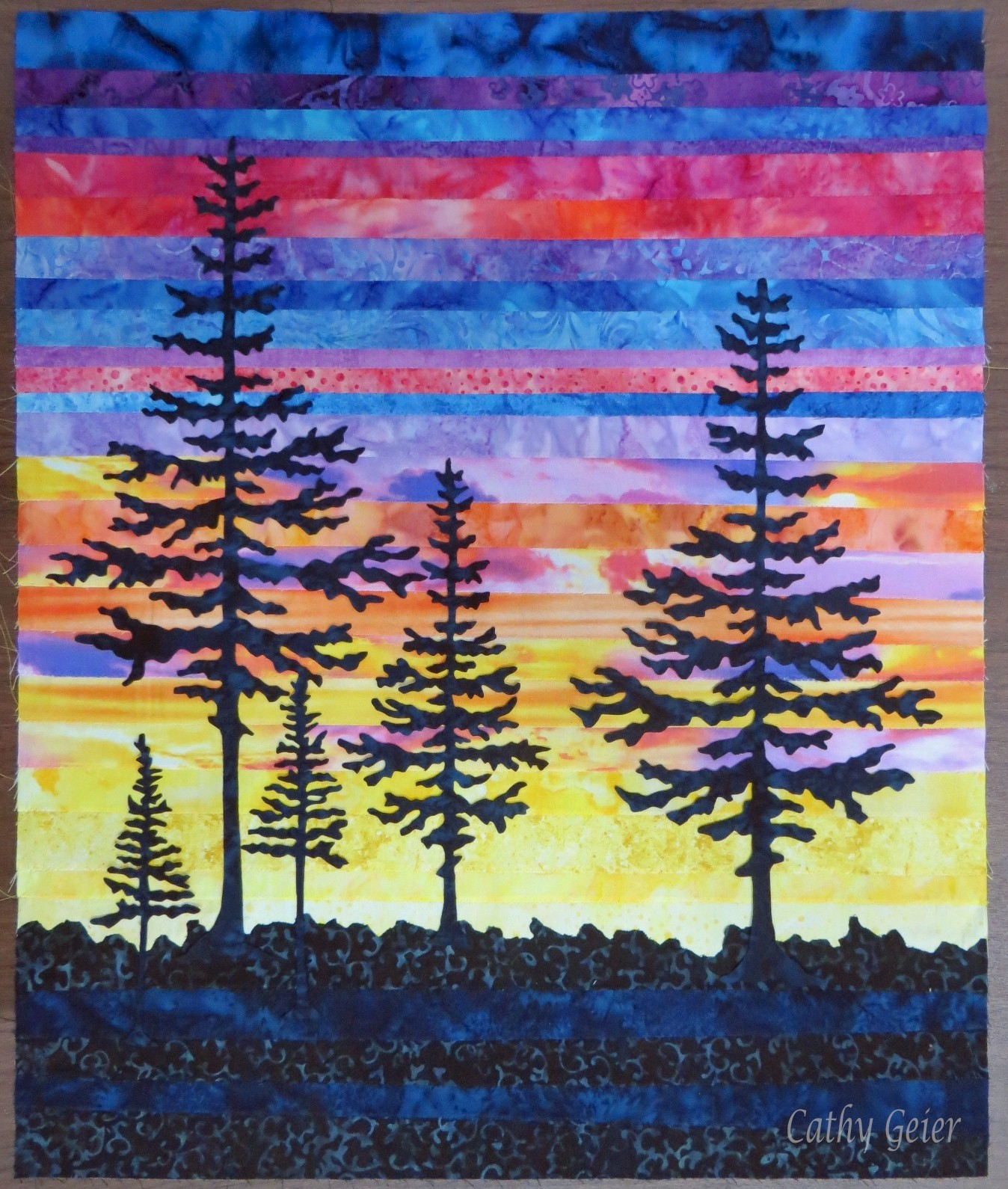 Landscape Quilt Patterns Kits : Cathy Geier s Quilty Art Blog: Last Light project and Paducah Quilt Show I