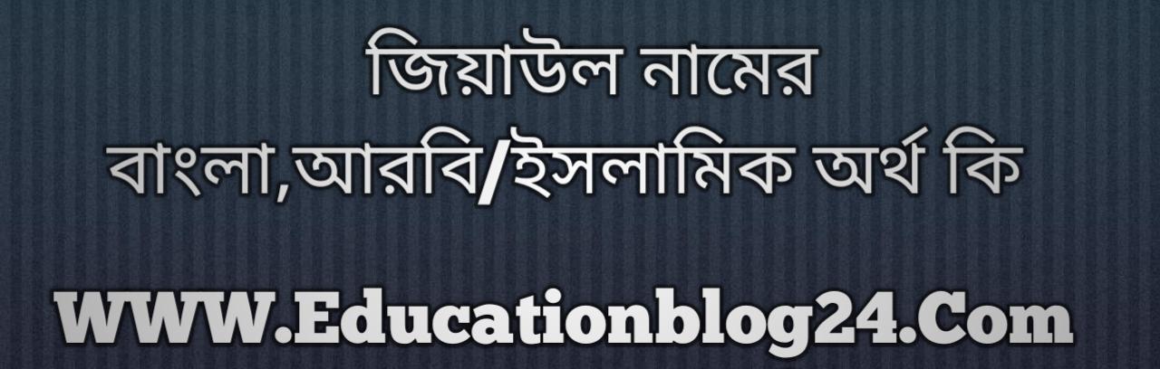 Ziyaul name meaning in Bengali, জিয়াউল নামের অর্থ কি, জিয়াউল নামের বাংলা অর্থ কি, জিয়াউল নামের ইসলামিক অর্থ কি, জিয়াউল কি ইসলামিক /আরবি নাম
