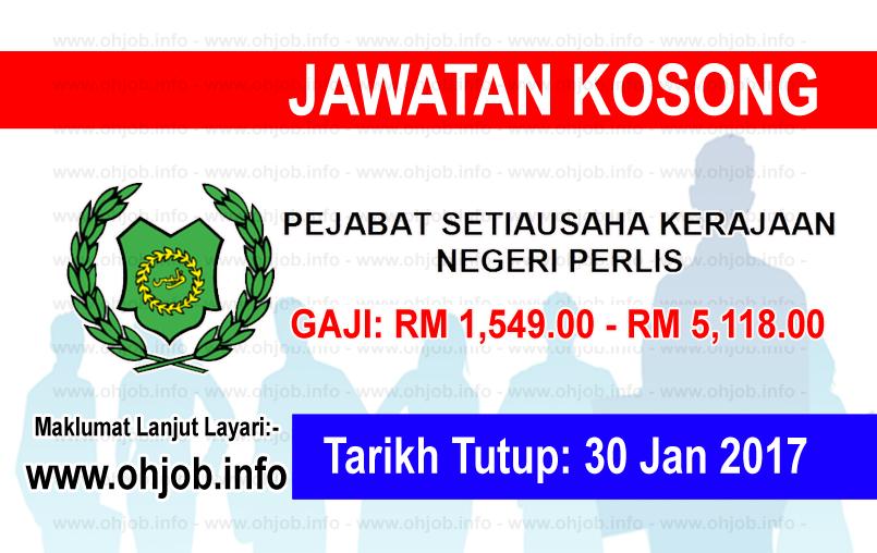 Jawatan Kerja Kosong Setiausaha Kerajaan Negeri Perlis logo www.ohjob.info januari 2017