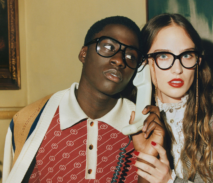 Photographer Quil Lemons captured Gucci's FW21 Eyewear campaign