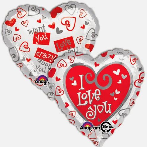 фольгированные шарики сердечки С любовью