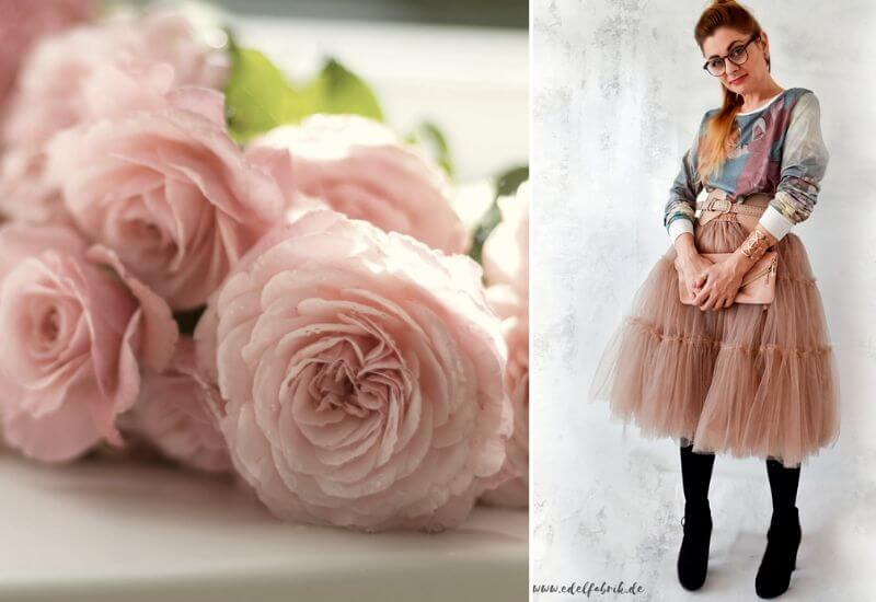 Tüllrock-Outfit-Frauen-Rosa