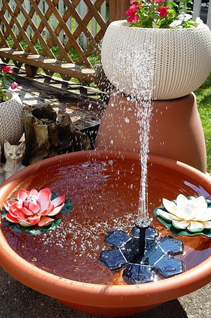 Solar Battery Fountain Water Pumps