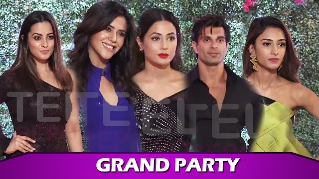 Telly Buzz  KZK 2 actors Parth Samthaan, Erica Fernandes, Hina Khan and others gala time at Ekta Kapoor's party