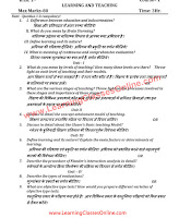 Learning and Teaching B.Ed Question Paper