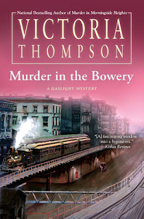 Guest Blog by Victoria Thompson and Review and Giveaway of Murder in the Bowery