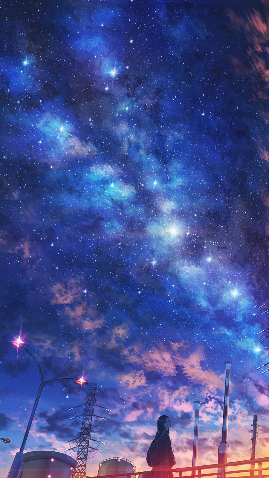 Under night sky