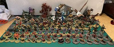 100 Reaper Bones Miniatures Painted