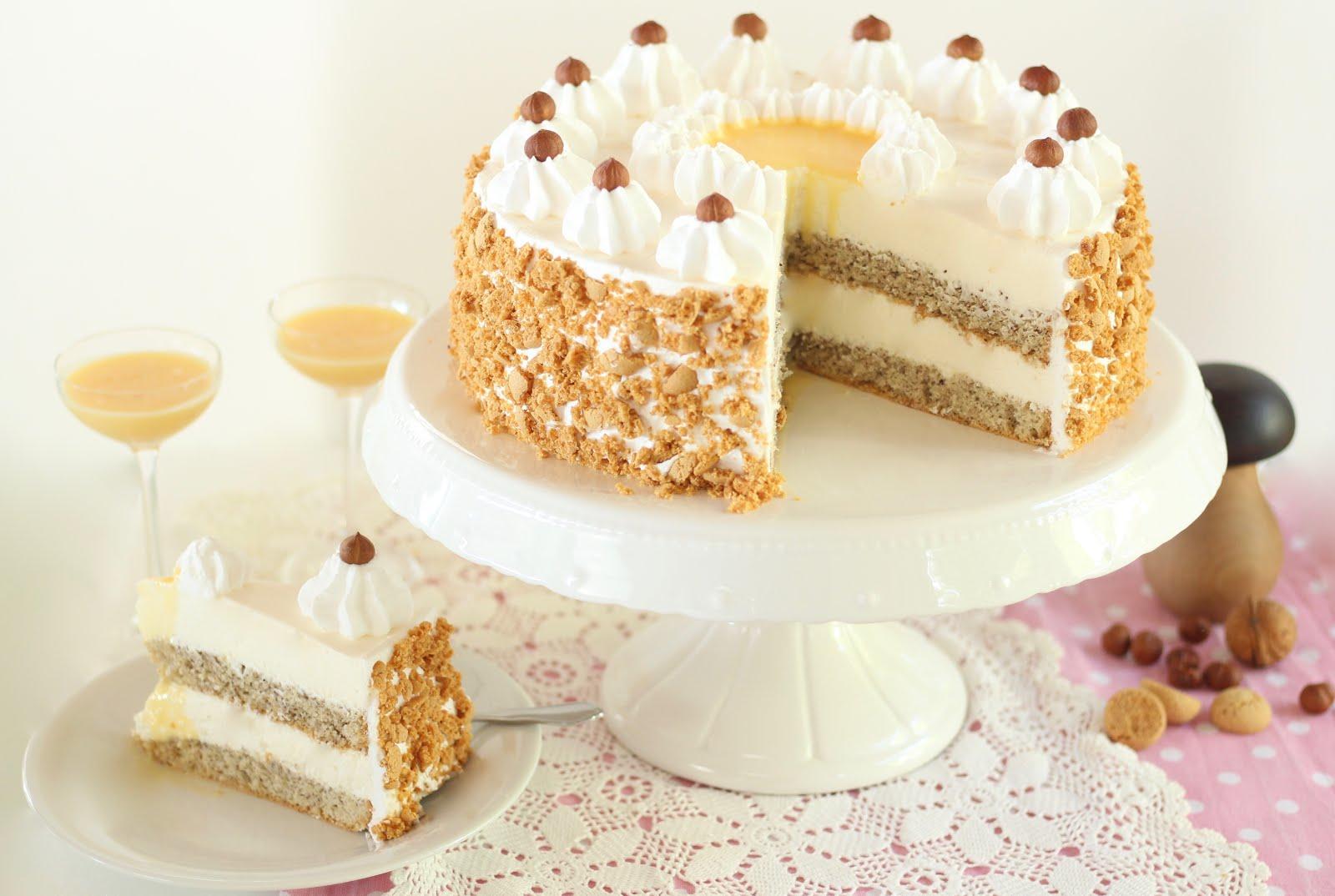 Unwiderstehliche Nuss Eierlikör Torte | Rezept und Video von Sugarprincess