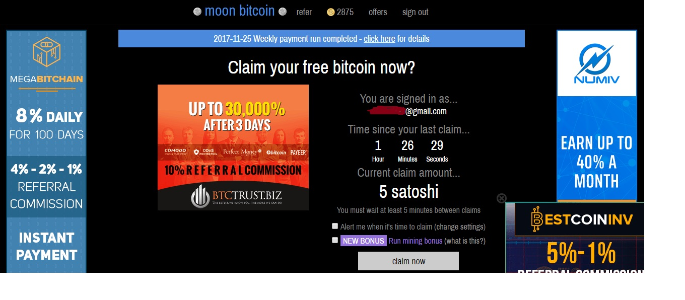 Earn Free Bitcoins