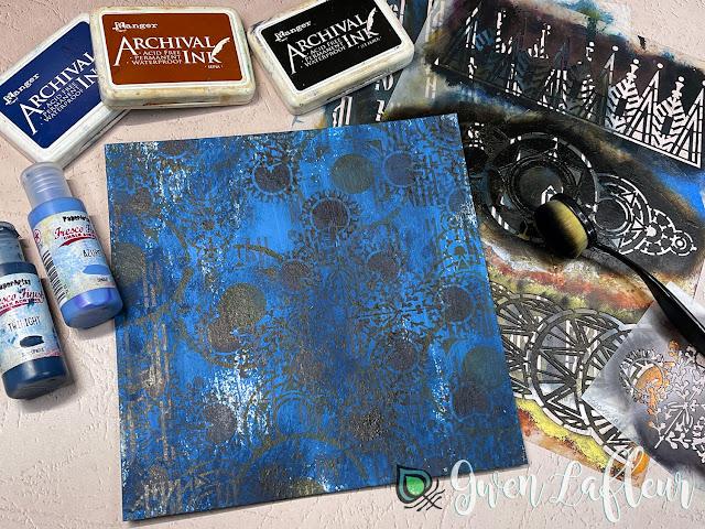 Printmaking with Stencils - Tutorial Step 1 - Gwen Lafleur