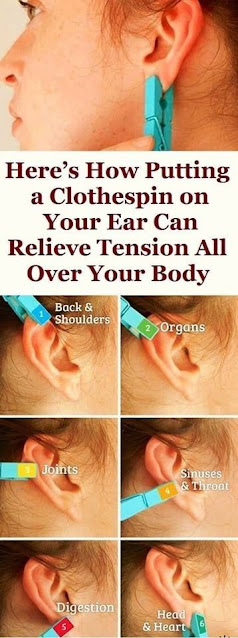 Here's How Putting A Clothespin On Your Ear Can Relieve Tension Throughout Your Body