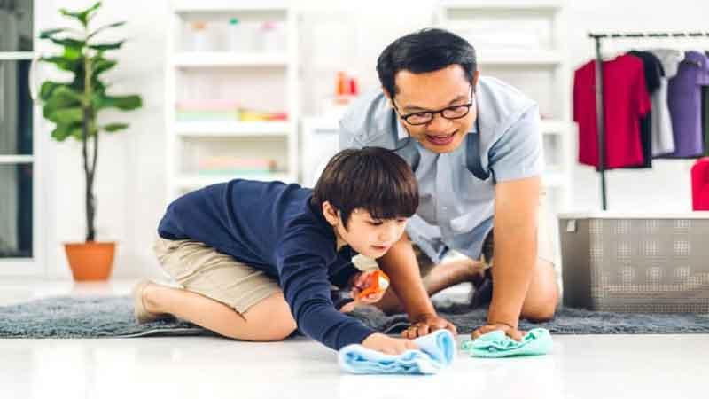 5 Jenis Pekerjaan Rumah Tangga yang Bisa Dilakukan Bareng Anak