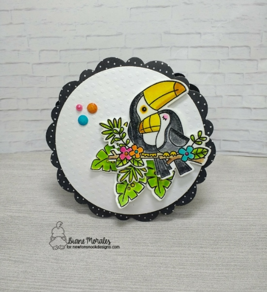 Diane's card features Toucan Party by Newton's Nook Designs; #newtonsnook