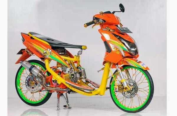 modifikasi airbrush mio sporty terbaru