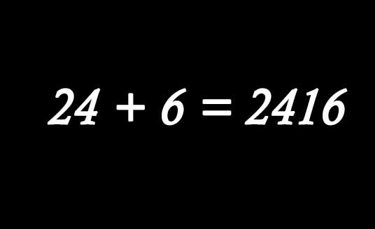 Black background with a mathematical calculations