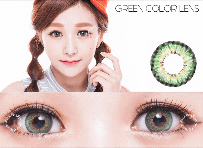 gg shinny green circle lenses