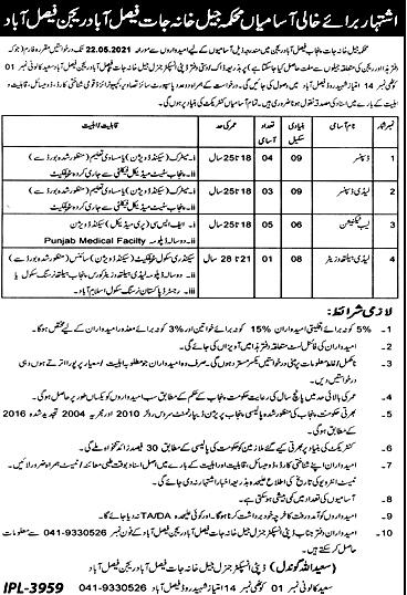 Punjab Jail Khana Jat Faisalabad Region Latest New Jobs 2021 Punjab Jail Khana Jat Faisalabad Region Latest New Jobs 2021 Punjab Jail Khana Jat Faisalabad Region Latest New Jobs 2021