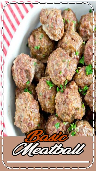 This Homemade Meatball recipe is way better than store bought, and easy too - they take minutes to put together! Made from ground beef mixed with parmesan cheese, salt, pepper, onion and garlic