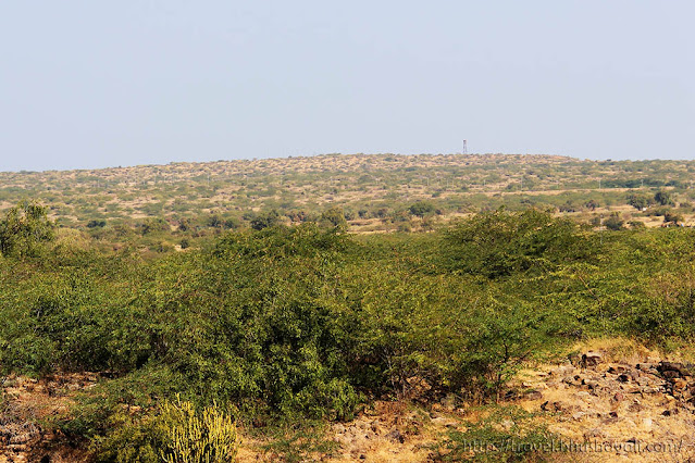 View of BSF post & Pakistan from Dholavira