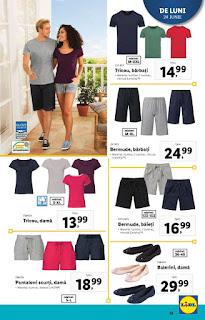 CATALOG LIDL 4 iunie - 30 iunie 2019 reduceri tricouri si pantaloni scurti