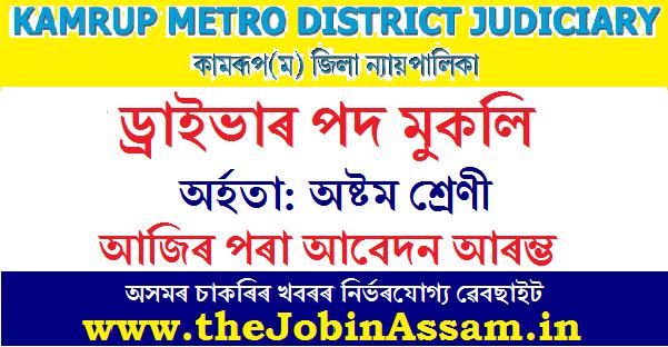 District & Sessions Judge, Kamrup (M) Recruitment 2021