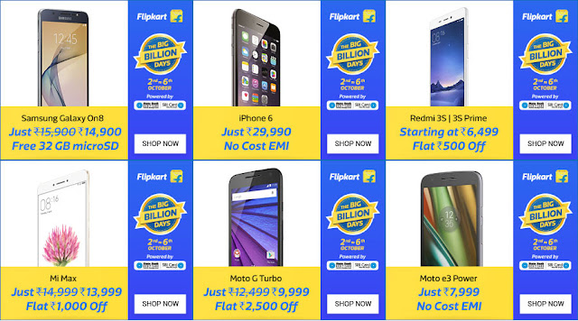 Flipkart Big Billion Days - Mobile Offers