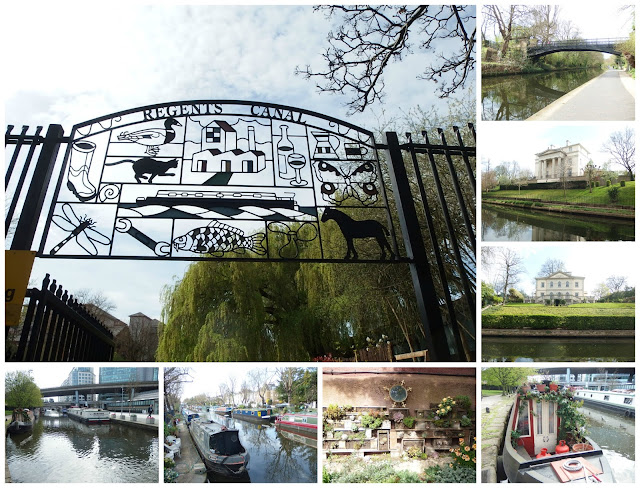 Scenes from our walk along the Regent's Canal