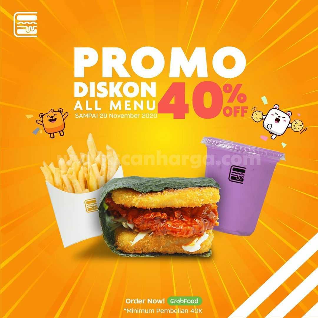 Burgushi Promo Diskon 40% Semua Menu via Grabfood