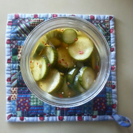 Spicy Oregano Quick Pickles