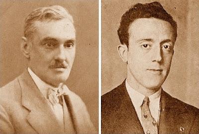 Los compositores de problemas de ajedrez Dr. Esteve Puig i Puig y Antonio F. Argüelles i Ferrer