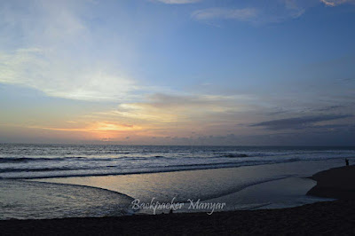 kala matahari menghilang di Pantai Kayu Putih - Backpacker Manyar