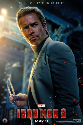 Iron Man 3 One Sheet Character Movie Posters - Guy Pearce as Aldrich Killian
