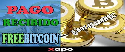 Freebitcoin Pago Recibido Xapo