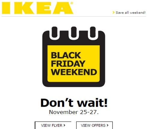 IKEA Black Friday Weekend Flyer + Offers