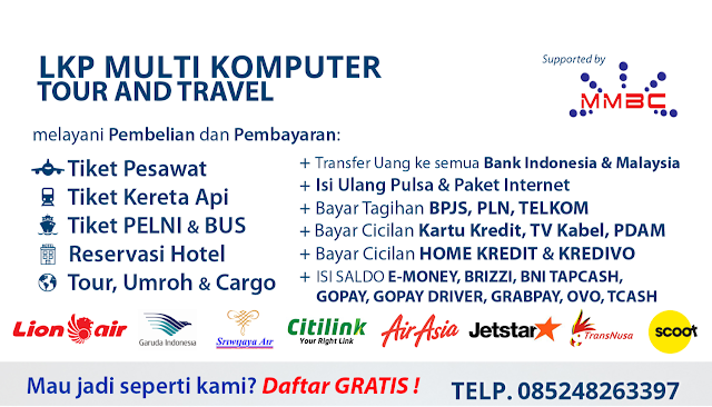 LKP Multi Komputer Sebagai Agen Tour And Travel